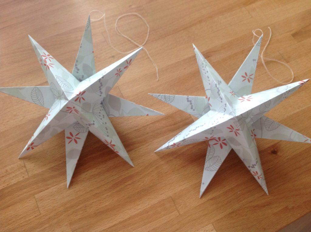 foldede stjerner opskrift
